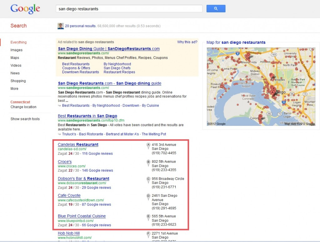 Google+ Local Example